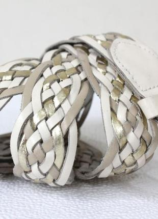 Кожаный плетеный ремень