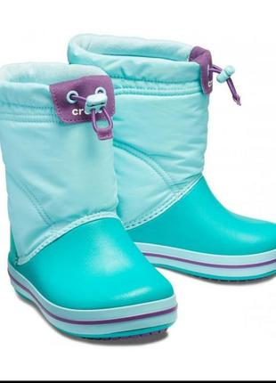 Зимние сапоги   crocs crocband lodge point pull-on boot,   сап...