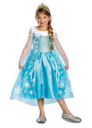 Новий новорічний костюм плаття принцеса ельза frozen elsa