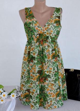 Брендовое шифоновое миди платье twist&tango индия цветы
