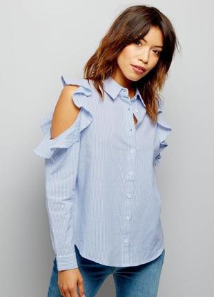 Женская голубая рубашка influence, размер m