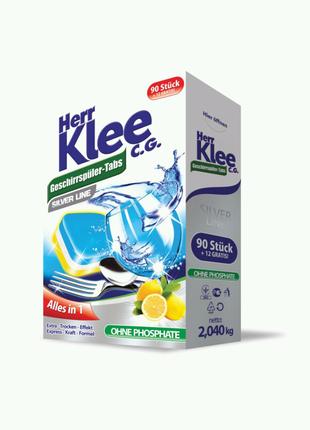 Таблетки для посудомийної машини Herr Klee Silver Line 102шт