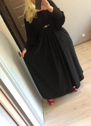 Шикарное,длинное платье-в пол,трикотаж-масло,летучая мышь,с ст...