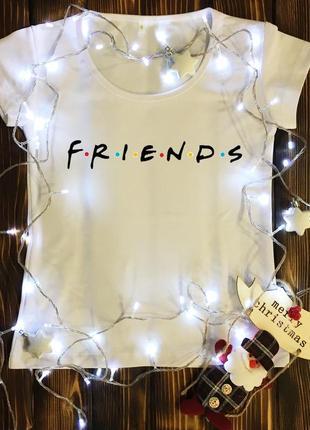 Женская футболка  с принтом - friends
