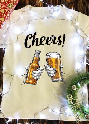 Мужская футболка с принтом - chears - пиво