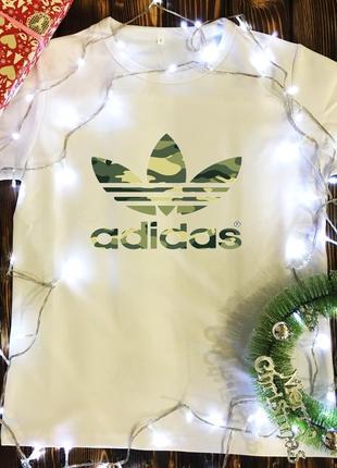 Мужская футболка с принтом - adidas - камуфляж