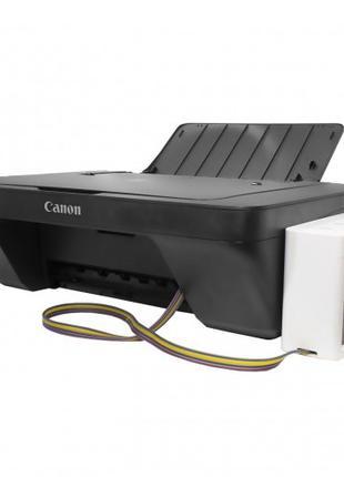 Струйный МФУ принтер сканер копир CANON PIXMA E414 + СНПЧ Blac...