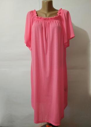 Платье туника новое розовое легкое модное свободного кроя h&m ...