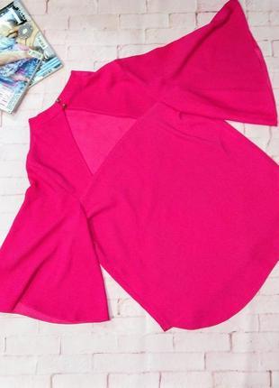 Блуза кофточка с вырезом на спинке оттенка фуксии river island