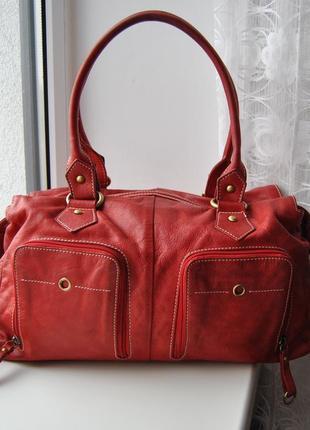Кожаная сумка vera pelle / шкіряна сумка
