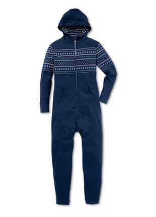 Свободный, приятный к телу, теплый комбинезон-пижама tchibo, г...