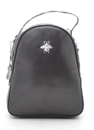 Новый шикарный женский кожаный городской коричневый рюкзак