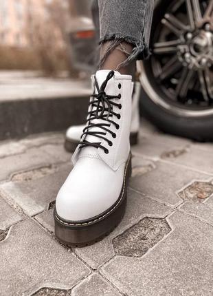 ❤️актуальные белые мартинсы зимние ботинки сапоги женские