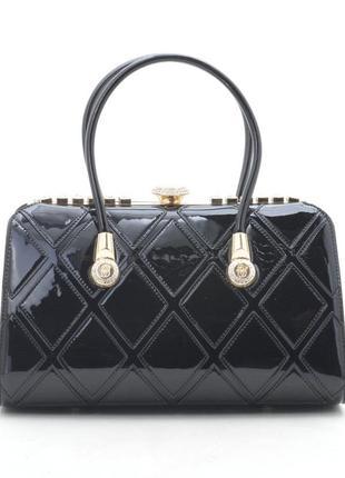 Новая женская черная лаковая сумка