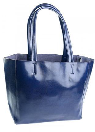 Женская кожаная сумка шопер из натуральной кожи