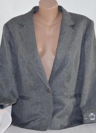 Брендовый серый пиджак жакет с карманами next вышивка паетки б...