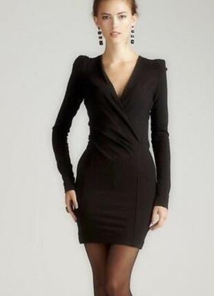 French connection маленькое черное платье, декольте на запах, ...