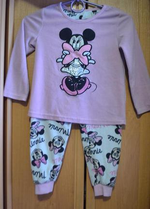 Раздельная пижама на девочку 4-5 лет, пижама минни маус