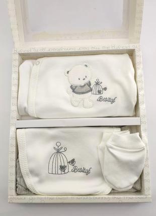 Подарочный набор для новорожденного костюм 0-4 месяцев на выпи...