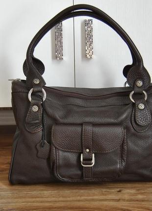 Кожаная сумка valentina / шкіряна сумка