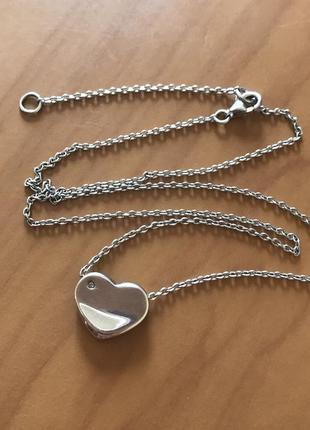 В наличии - комплект - серебряная подвеска с цепочкой - серебр...