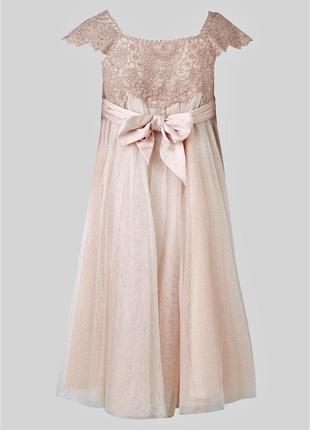Изумительное фатиновое блестящие  платье миди-макси с блёсткам...