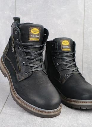 Мужские кожаные ботинки {зима}