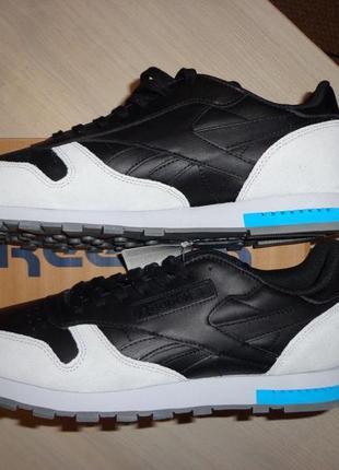 Новые мужские кожаные кроссовки reebok classic cl leather grey