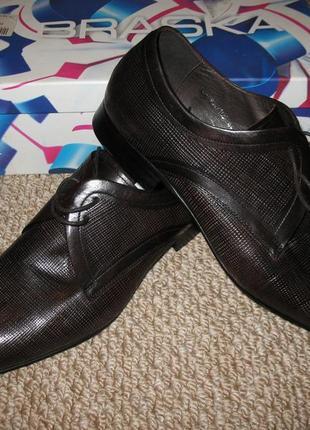 Новые мужские туфли braska браска кожа кожаные