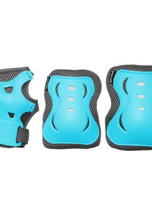 Комплект защитный SportVida Size S Blue/Grey SKL41-277760