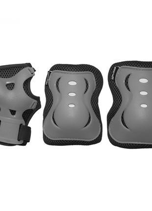 Комплект защитный SportVida Size L Grey/Black SKL41-277755