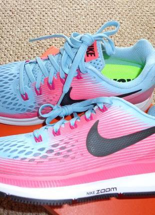 Nike air zoom pegasus 34 новые женские кроссовки беговые