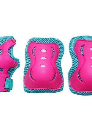Комплект защитный SportVida SV-KY0002-M Size M Blue-Pink SKL41...