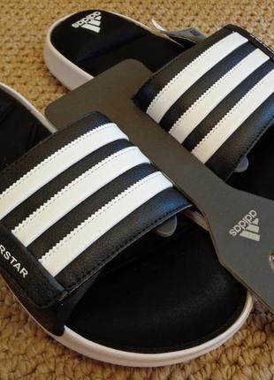 Мужские тапочки adidas superstar slide cloudfoam шлёпки сланцы