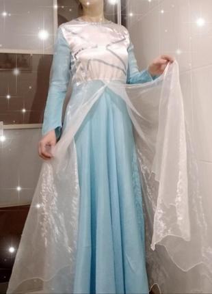 Карнавальный костюм костюм принцессы зима эльза фея