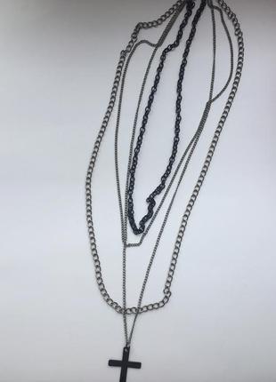 Колье ожерелье подвеска хрест.