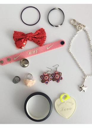 Біжутерія, набір, лот, сережки, кольца, браслети.