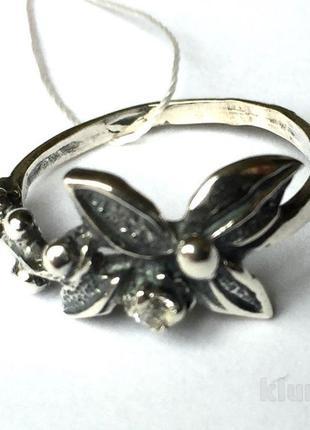 Новое серебряное кольцо куб.цирконий серебро 925 пробы