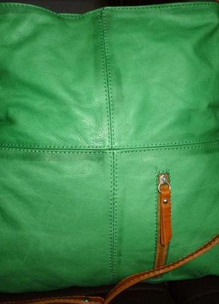 Стильная большая сумка натуральная кожа италия