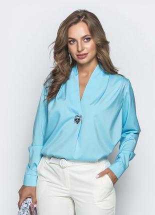 Стильная офисная блуза