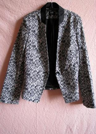 Стильный базовый черно-белый блейзер пиджак oggi