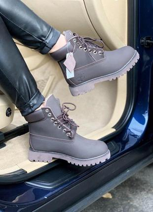Timberland brown fur зимние меховые ботинки тимберленд /осень/...