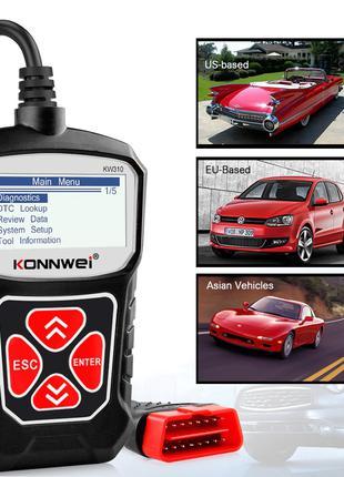 Автомобильный сканер KONNWEI KW310 OBD2 для диагностики двигателя