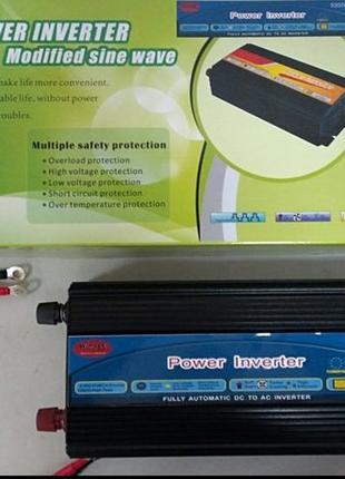 Преобразователь напряжения инвертор автоинвертор с 24v на 220v...