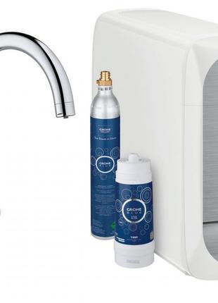 Смеситель для кухни с системой очистки воды Grohe Blue Home 31...