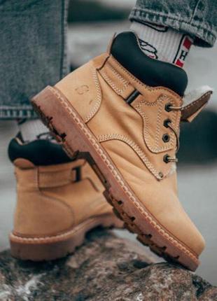 Стильные мужские зимние кожаные ботинки с мехом