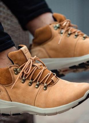 South tactic yellow✳️зимние✳️мужские кожаные кроссовки/ботинки...