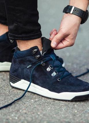 South fenix dark blue✳️мужские зимние✳️синие кроссовки/ботинки...