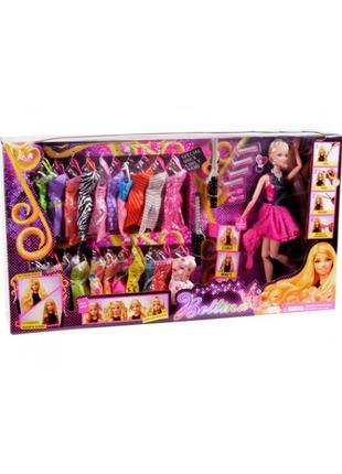 """Кукла типа """"Б"""" 68032 набор платьев, аксессуары, в кор. 60*11*33 с"""