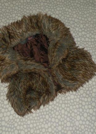 Пушистая меховая жилетка 2-4 года